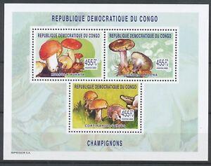 [203] Rep. Congo Bloc 268** champignons. Superbe. Cote : 29 €