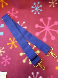 Marc Jacobs Crossbody Replacement Strap Blue Webbing Gold Hardware