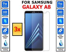 3x Original 100% Protector de pantalla de vidrio templado cubre para Samsung Galaxy A8