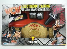 RARE Electronic Talking 1999 WCW World Tag Team Title Belt Set NWO WWE WWF Hulk