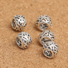 THAI .925 STERLING SILVER 6mm LARGE HOLE FANCY SPACER BEADS #708 - (LOT OF 5)