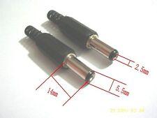 100pcs x 2.5 x 5.5 mm AC/DC Power Male Plug Jack Adapter