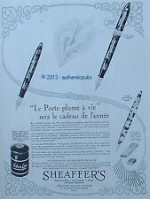 PUBLICITE ORIGINALE DE 1931 SHEAFFER'S PORTE PLUME SKRIP MINE KMC FRENCH AD PEN