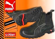 PUMA TANAMI black LEATHER safety Composite Toe light slip on BOOT 630347 PUMA