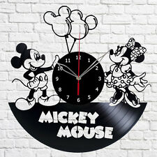 Mickey Mouse and Minnie Mouse Disney Vinyl Record Wall Clock Decor Fan Art A190