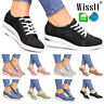 Womens Hidden Low Heel Wedge Ankle Boots Sneakers Trainers Comfy Loafers Shoes