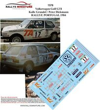 DECALS 1/24 REF 1578 VW VOLKSWAGEN GOLF GTI GRUNDEL RALLYE PORTUGAL 1984 RALLY