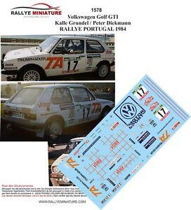 Decals 1/32 Ref 1578 VW Volkswagen Golf Gti Grundel Rally Portugal 1984 Rally
