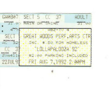 Lollapalooza Pearl Jam Tool Soundgarden Concert Ticket Stub 8-7-92