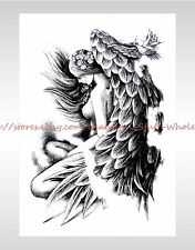 """US SELLER-sexy women angel wing 8.25"""" temporary tattoo Fake Tattoos party favor"""