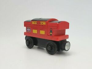 Thomas & Friend Wooden Railway Sodor Line Musical Caboose Red 2012 Tested