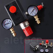 Manifold Regulator Gauges/120PSI Air Compressor Pressure Switch Control Valve