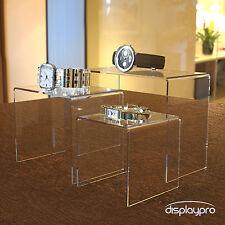 Nesting Plinths Acrylic Display Stands Clear Retail Shop Bridge Riser - Medium