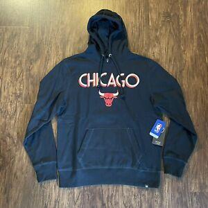 '47 Brand Chicago Bulls MVP Headline NBA Hoodie Size Large NWT - Black