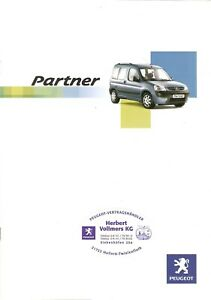 Prospekt / Brochure Peugeot Partner 11/2005