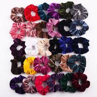 40Pcs Hair Scrunchies Velvet Elastic Hair Bands Scrunchy Hair Rope Band 5-40 Pcs