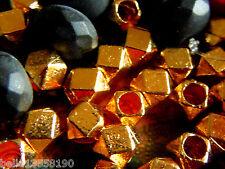 Neue 24 Karat vergoldete Facetten-Perlen- 4x4mm- 20Stk.-schimmernd-