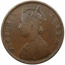 (M1) - Indien India - 1/2 Anna - 1862 - Queen Victoria - Kupfer - F-VF - KM# 468