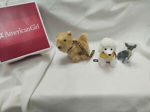 American Girl Julie DOG-WALKING SET poodle terrier chihuahua NO DOLL