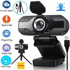 1080P HD Webcam Kamera USB 2.0 Mit Mikrofon für PC Computer Laptop Windows Mac