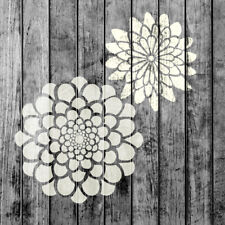 Zinnia Flower Small Stencils Set - Pack of 2 - Painting for Wood Wall Furniture