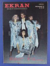 MILK and COFFEE mag.Poland 1986 James Dean,Maruschka Detmers,Vladimir Vysotsky