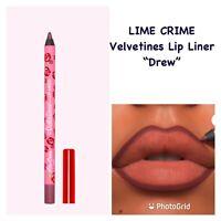 LIME CRIME Velvetines Drew Lip Liner .04oz. (plummy brown) NEW IN BOX!