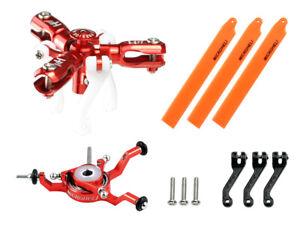 Microheli CNC Triple Orange Blades Conversion Set (RED) - BLADENANO CPX/S/S2/S3