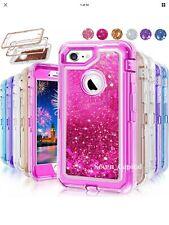 For iPhone XS Max Defender Liquid Glitter Case fits Otterbox Clip blue