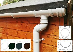 Round Plastic Guttering Kit For Sheds, R Garages, Outhouses & Small Buildings