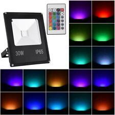 30W Led Rgb Flood Light Outdoor Garden Color Changing Remote Control Ip65 110V