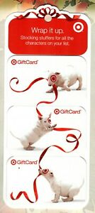 TARGET Bullseye Playing With Red Ribbon ( 3 ) 2007 Gift Cards ( $0 )