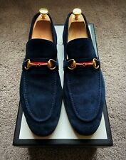 Genuine Gucci Navy Blue Suede Horsebit Mens Loafer/Shoe Gucci/UK10 EU44 US10.5