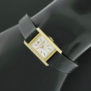 Ladies Jaeger-LeCoultre 14k Yellow Gold 15mm Rectangular Mechanical Wrist Watch