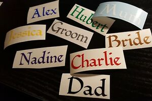 1 x Personalised Name/word Vinyl Decal Sticker for wine glass, bottles...