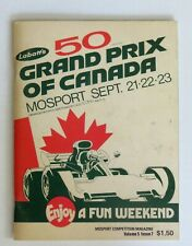 1973 Formula 1 Canadian Grand Prix Program, Sir Jackie Stewart's last Formula 1