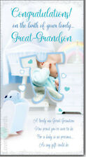On the Birth Of Your Great Grandson Nursery Design New Baby Birth Greeting Card