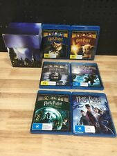 HARRY POTTER FIRST 6 MOVIES BLU RAY MOVIES BOX SET - EXCELLENT CONDITION