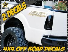Fx4 OFF ROAD METALLIC GOLD Truck Bed Decal Set for Ford F150 Super Duty Ranger