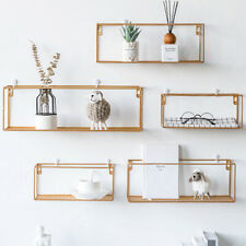 Nordic Style Wall Mounted Shelf Unit Metal Wire Storage Rack Kitchen Bathroom