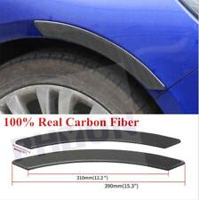 2x Carbon Fiber Car Fender Flares Arch Wheel Eyebrow Protector Sticker Extension