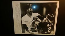 DAVE WINFIELD New York Yankees grabs Mike Heath OAKLAND A's 7X8 SPORTS PHOTO