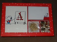 Peanuts Snoopy Set-Journal, Notepad, 10 Gold Binder Clips, & 30 Gold Paper Clips