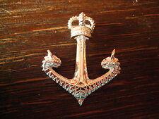großer maritimer Anhänger Anker mit Krone Drachen Köpfe Pirat 925er Silber neu
