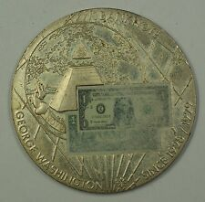 George Washington $1 One Dollar Banknote Commemorative Medal