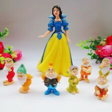 1 Set of 8 Disney Princess Snow White and Seven Dwarfs Figures Dolls Toy Gift