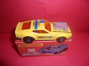 HTF Matchbox Rola-Matics #10-Piston Popper In Yellow/Mach1 Tempa,NMINMB,1970's.