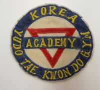 1960's Yudo Tae Kwon Do Gym Academy South KOREA Cloth PATCH Martial Arts Vtg