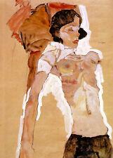 Egon Schiele Semi Nude Reclining 11x8 inch Print