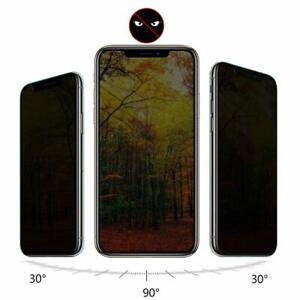 Privacy Glas iPhone X Xs Xr 11 12 Mini Pro Max Sichtschutz Blickschutz Folie
